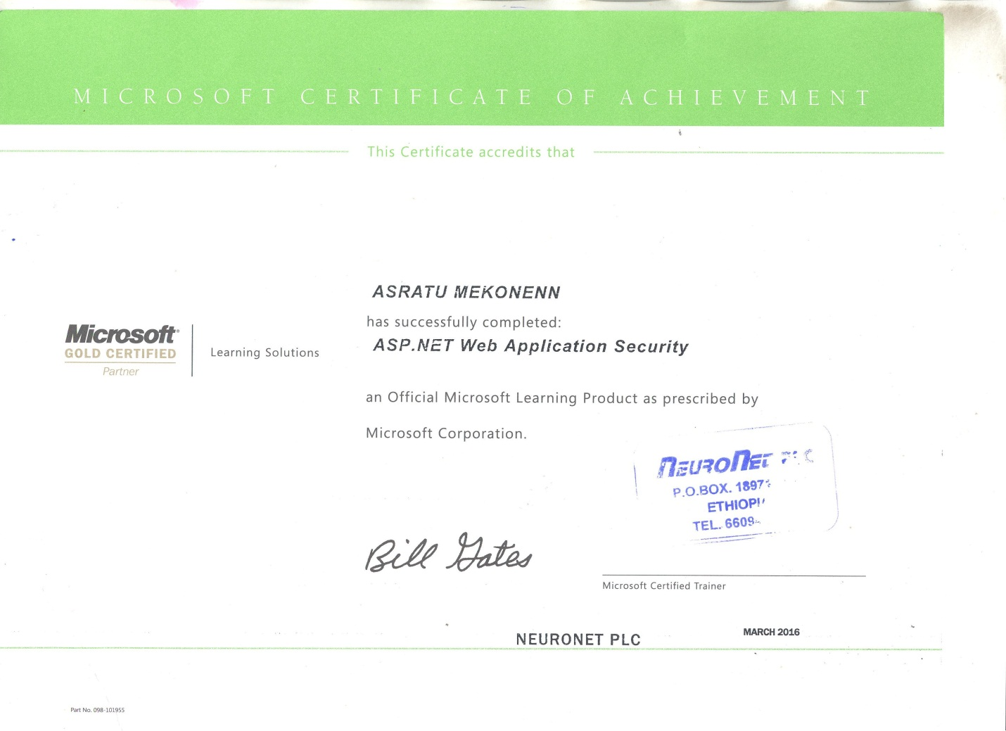 Microsoft Certification Asp Images - creative certificate