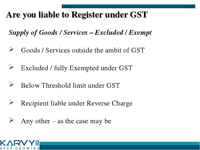 karvy gst registration