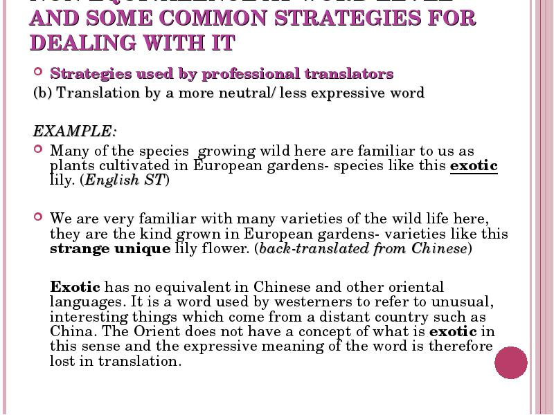 what is the meaning of back translation