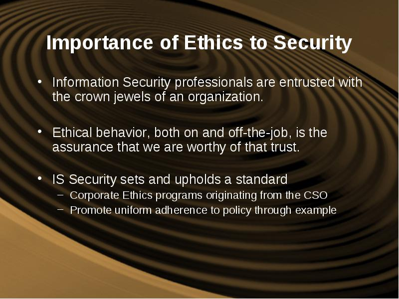 the importance of ethics committees The role of a facility ethics committee in decision-making at the  ethics committees in  of perspectives on the meaning and relative importance of each.