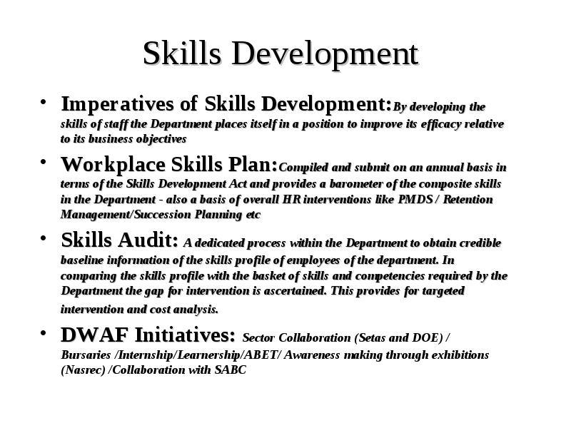 Human Resources Portfolio Committee Briefing 24 August 2005