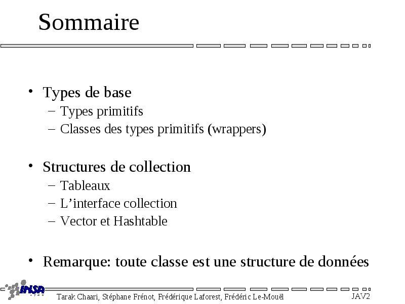 structure de données java