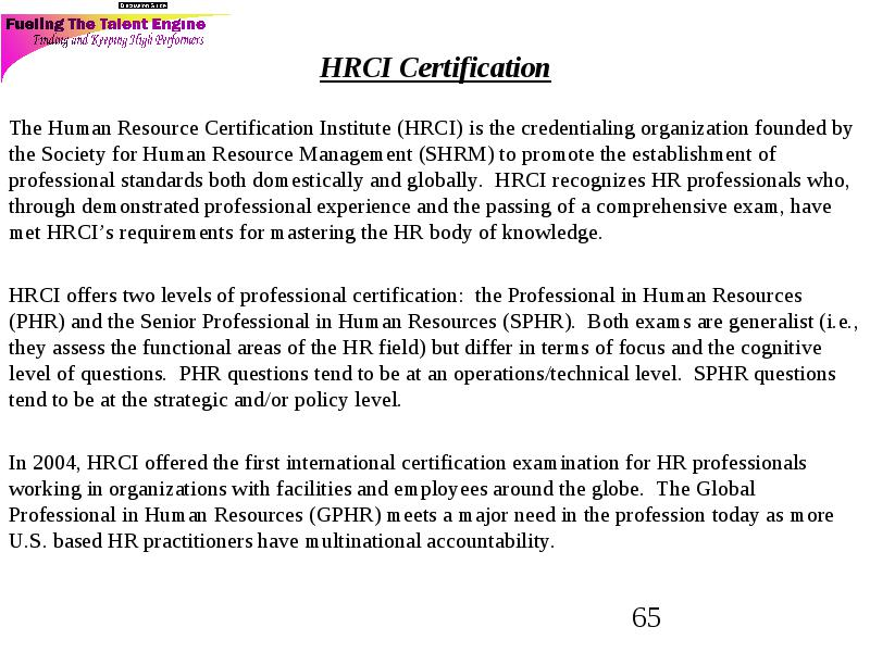Perfect Professional In Human Resources Phr Certification Motif
