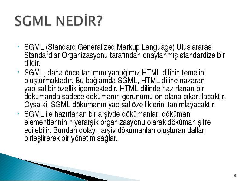 standard generalized markup language sgml